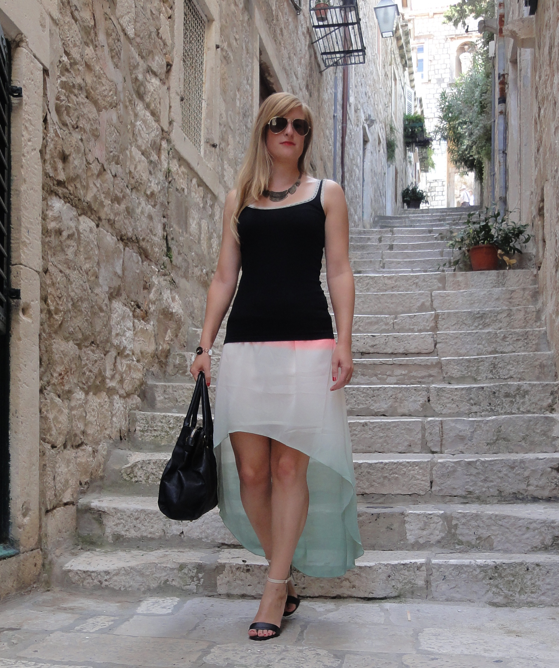Fashion outfit in Dubrovnik