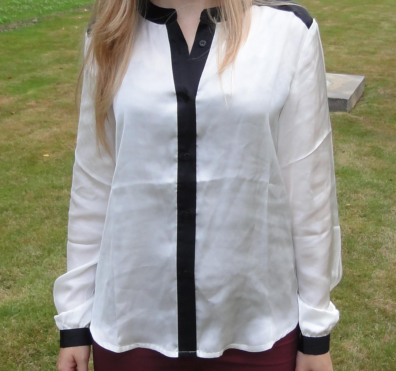 black & white blouse