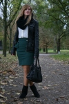 Ponderosa green pencil skirt